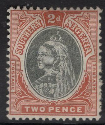 SOUTHERN NIGERIA SG3 1901 2d BLACK & RED-BROWN MTD MINT