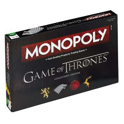 Official Game Of Thrones Monopoly Trading Traditional Board Game