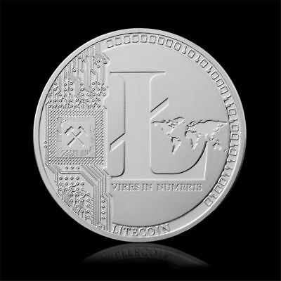 10Pc Silver Plated 25 Litecoin Coins Vires Numeris Collection Commemorative Coin