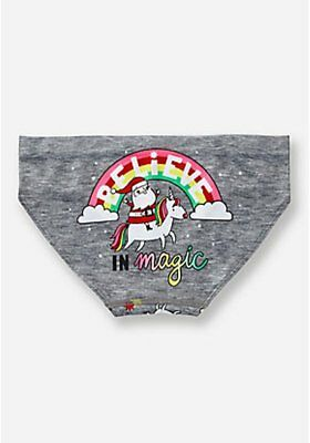 Justice Girl's BELIEVE IN MAGIC Holiday Panties Size 16-18 NWT