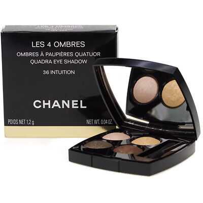Chanel Les 4 Ombres Quadra Pink Gold Brown Eyeshadow Palette 36 Intuition
