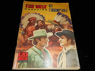 Far West magazine 1 : Kit l'indomptable Editions Ponzoni août 1966