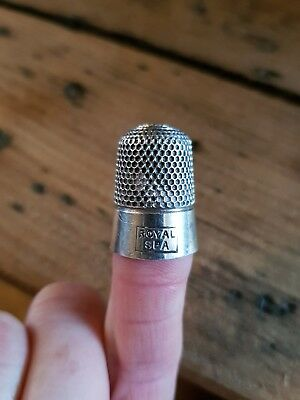 Royal Spa silver thimble