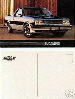 1986 Chevy El Camino Advertising Postcard