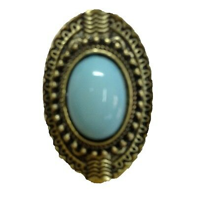 Gold Jewelry Vintage Antique New Womens Old Gemstone Adjustable Ring