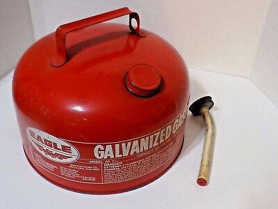Vintage Eagle Galvanized Steel Gas Gasoline Can 2.5 Gal Usa Super Condition