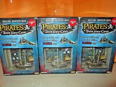 Wizkids Pirates of Davy Jones Curse Lot of 3 SPECIAL EDITION Boxes SEALED