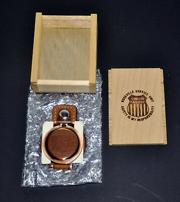 Union Pacific Railroad Roseville Ca Award Pocket Watch W Up Logo/leather Fob/box