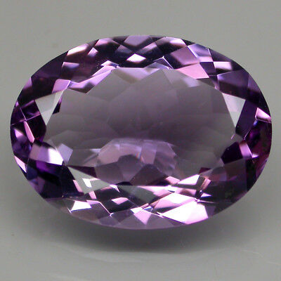 7.50ct. 16x12 Mm. Oval Cut Sparkle 100% Natural Top Rich Purple Amethyst