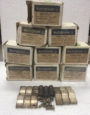 Lot Of 9 Westinghouse Main Contacts Kit. 3 Pole A/200 Series Size 4 NOS