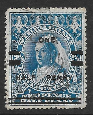 Niger Coast Protectorate 1894 ½d on 2½d Blue SG 65 - Cat Value £250