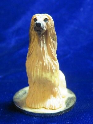 "Afghan dog figurine Ones 1992 conversation concepts DGT-28B  2"" high brown/tan"