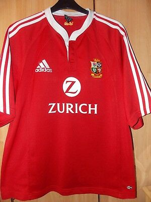 """Adidas Vintage British Lions Rugby Union tour  Shirt 2005 size on tag Uk XL 48"""""""