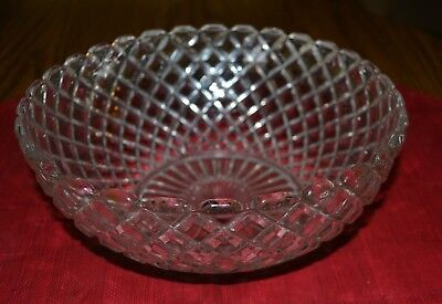 Hocking Waterford Waffle 8 1/2-Inch Lg. Berry Bowl, C. 1938-1944