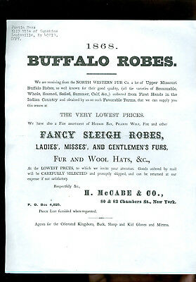 1868-Buffalo Robes-Fancy Sleigh Robes-H. McCabe-New York ( copy)