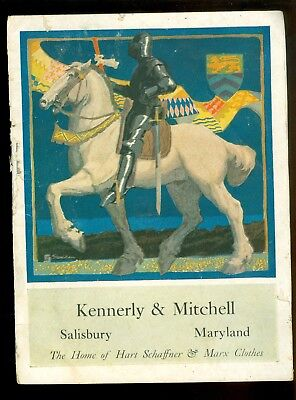 MAryland-Salisbury-Kennerly & Mitchell-Hart Schaffner & Marx Clothes-1920