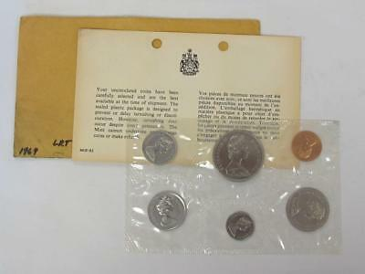 1969 Canada Uncirculated Mint Set Bright Original Coins With Coa Great Gift