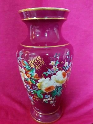 Sevres Porcelain, Rare Hand Painted Vase Around 1870. Stunning. Floral 12 inches