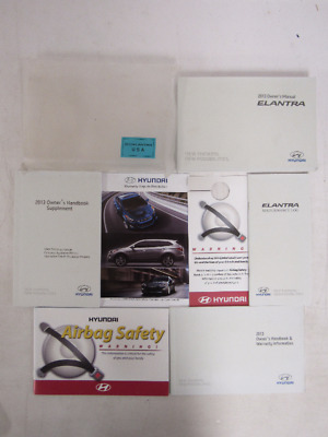 2013 Hyundai Elantra Owners Manual Guide Book