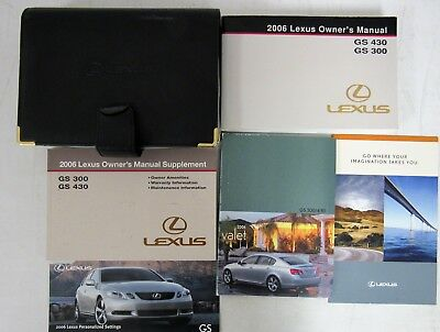 Lexus gs 430 Owners manual