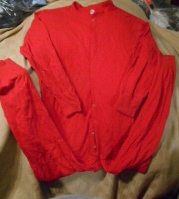 Vintage DUOFOLD 25% WOOL OUTER LAYER Red Union Suit THERMAL Long Johns SZ XL