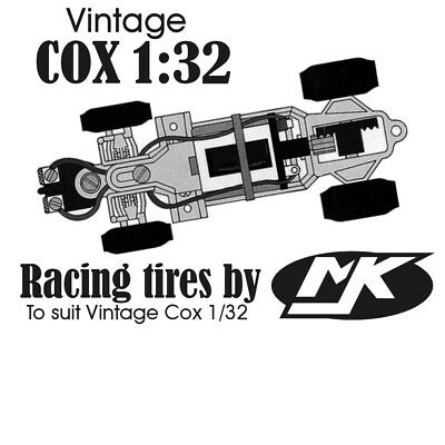 COX 1/32 Vintage Race Tires [Made by MJK]
