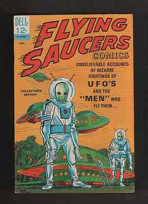 "1967 1st  ISSUE "" FLYING SAUCERS "" UFO  HI GRADE COMPLETE DELL 12c"