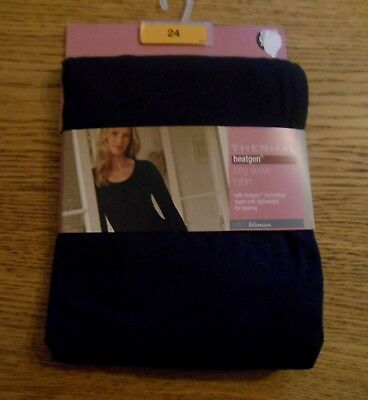 *M & S* THERMAL HEATGEN LONG SLEEVE Stretch T-SHIRT Size 24 BNWT