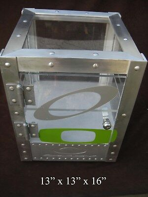 Oakley X-Metal Aluminum Cube Sunglass & Watch Display Case - NICE