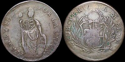 ND (1836) Spain/Philippines 8 Reales ~ Y.II Countermark ~ 5-4-3 Pearl ~ KM#138.2