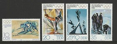 East Germany (DDR) 1980 Olympic Winter Games SG E2188-E2191 MNH