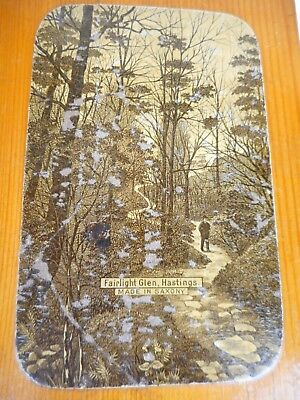 Antique  Box With A View Of ' Fairlight Glen Hastings ' Made In Saxony ~ Vintage