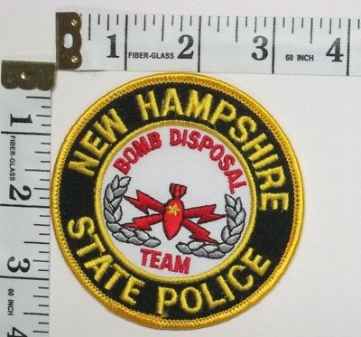 New Hampshire State Police Bomb Disposal Team Shoulder Patch