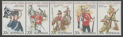 AUSTRALIA SG964a 1985 19TH CENTURY MILITARY UNIFORMS MNH