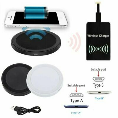 Qi Wireless Charger Charging Mat+Receiver For Samsung Galaxy J1 J2 J3 J5 J7 A7