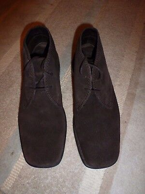 Mens Rockport Boot Shoe size 8.5 Brown Suede