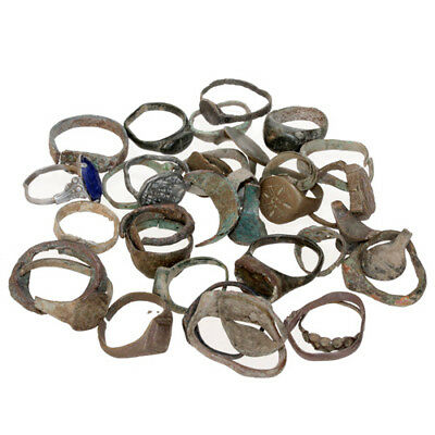 Stunning Lot Of 30 Ancient To Late Medieval Rings