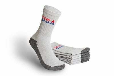 MEN'S ATHLETIC CREW SOCKS - GGS-CUSA - SIZE 10-13(Wholesale Lot of 180 Pairs)