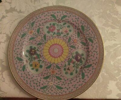 """Herend Rare Hand Painted 11"""" wall plate heavy enamels. Blue glazed ERS pattern"""