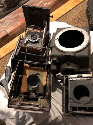 Lot Of Vintage Graflex Speed Graphic Cameras For Parts Lens