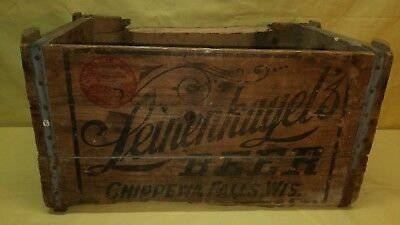 Vintage Leinenkugel's Beer Wood Crate Box Chippewa Falls,wis. Old Box Sign