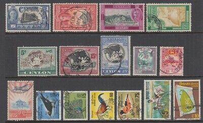 CEYLON 1947-69 SELECTION (x16) USED (ID:765/D49687)