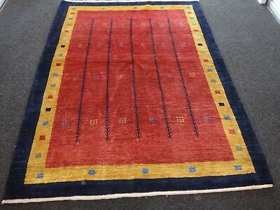 Persian Qashqai tribal colorful modern Gabbeh rug in perfect condition 5x7 ft