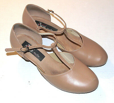Very Fine Competitive Dancer CD1113T Cuban Heel Shoes Size 9