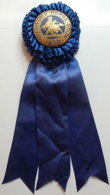 Rare Antique 1930 Horse Show Ribbon Trophy Stamford Connecticut Equestrian CT