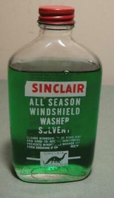 VINTAGE SINCLAIR SIGN RARE SINCLAIR WINDSHIELD WASHER SOLVENT BOTTLE nos DINO nr