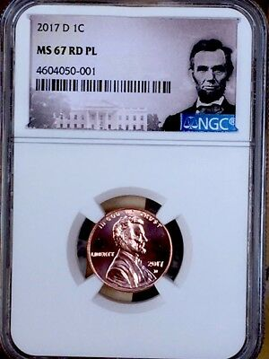 2017-D Prooflike Lincoln Shield Cent NGC MS 67 RD PL * Top Pop! *