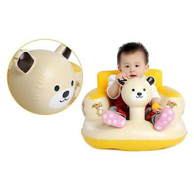 Cartoon Bath Seat Dining Chair Inflatable Sofa Baby Portable Play Unique AU