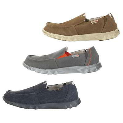 Dude Farty Chalet Mens Lined Textile Canvas Slip On Shoes Slippers Size UK 7-12