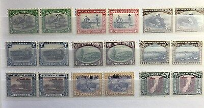 Suidwes Afrika / South West Africa - Set of 9 Pairs 1931 included 20s - Mint